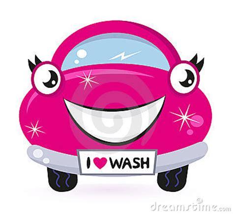 cute pink car wash royalty  stock photography image