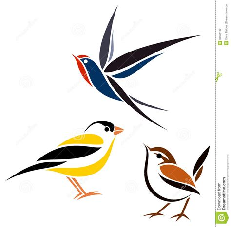 Travel Barn Stylized Birds Stock Photography Image 30346182