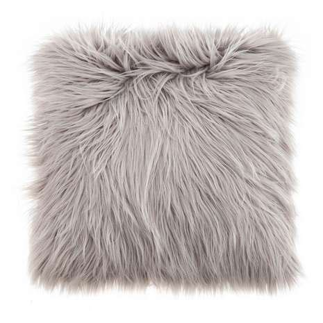 Faux Fur Home Decor faux fur grey cushion dunelm