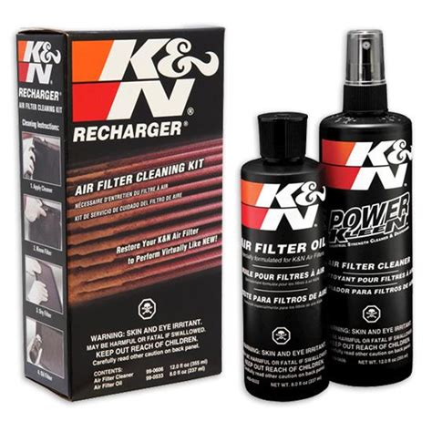 k n air filter cleaning kit