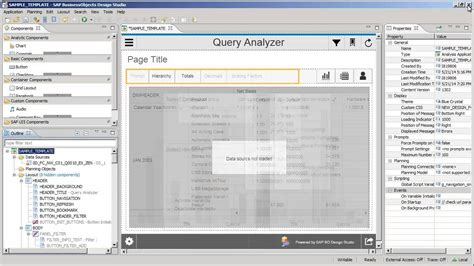 layout designer sap business one use the adhoc analysis template sap businessobjects