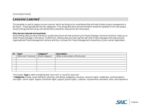 lessons learned project management template lessons learned template hashdoc