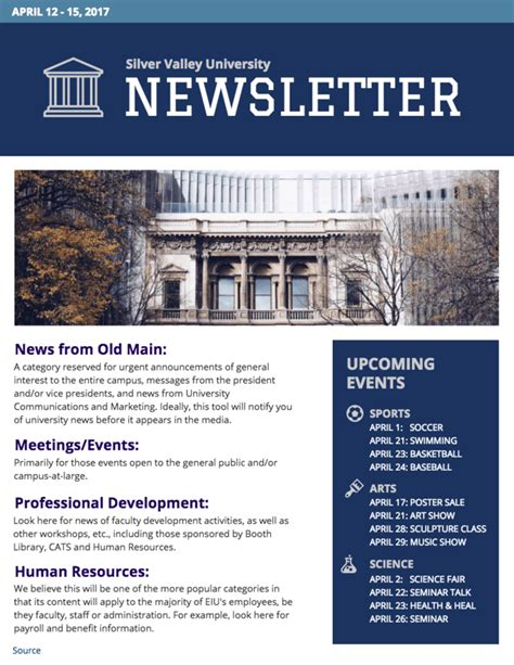 University Newsletter Template Venngage College Newsletter Templates Free