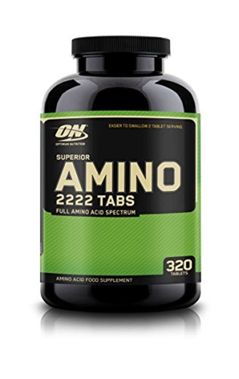 Amino 2222 On Isi 320 Tabs optimum nutrition superior amino 2222 tablets 320 count 320 ebay