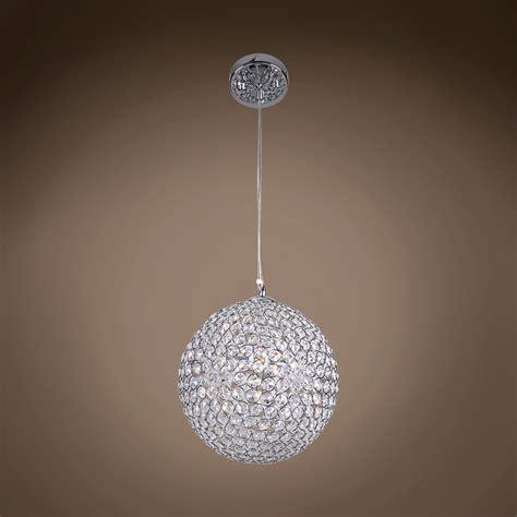 Spherical Pendant Light Joshua Marshal 700072 001 4 Light Sphere Pendant Light In Chrome Finish With Clear
