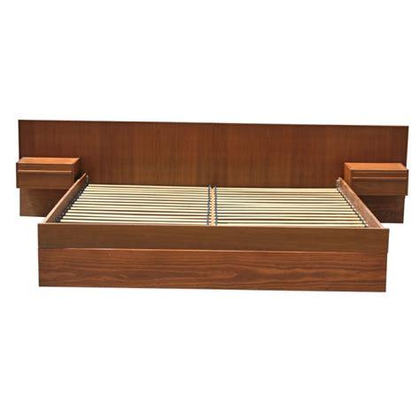 Teak Platform Bed Frame Teak King Size Platform Bed With Nightstands At 1stdibs