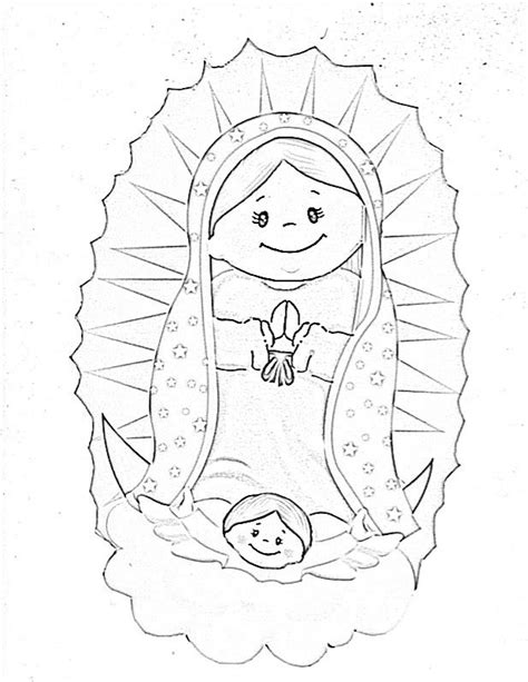 La Virgen De Guadalupe Coloring Pages Coloring Home Imagenes De La Virgen De Guadalupe Para Colorear