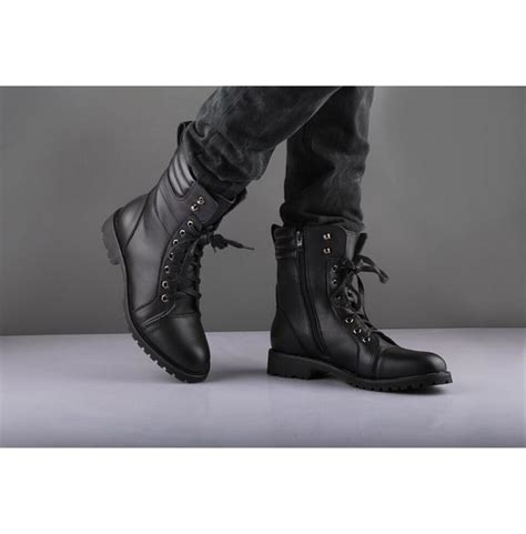 mens combat boots fashion black style boot combat boot winter
