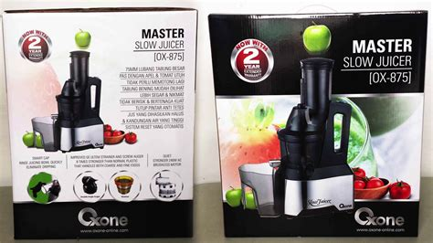 Oxone Master Juicer review master juicer oxone ox 875