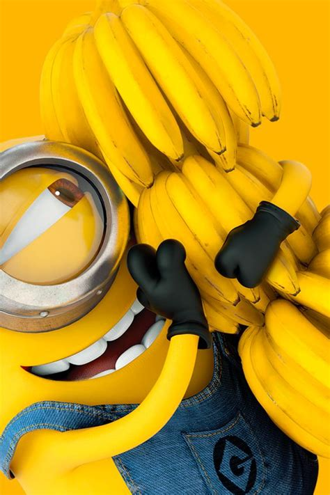 wallpaper iphone banana tap and get the free app art creative minions bananas