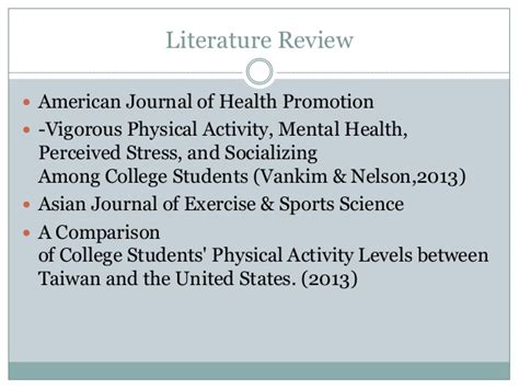 A Literature Review Psychiatric Boarding by Global Physical Activity Questionnaire Sundeep B Spring2014