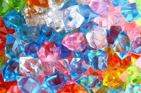 color plastic gems as luxury background stock photo