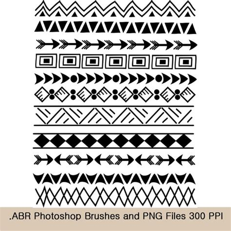 pattern drawing tribal photoshop brushes and clip art borders indian tribal 8 5