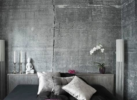 Decorating Small Homes concrete wallpapers for an original industrial look by tom