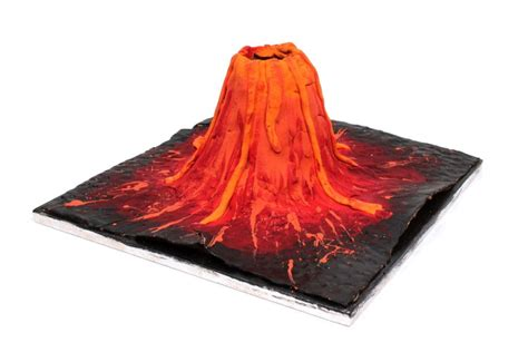 How To Make A Paper Volcano - how to make a clay volcano volcano clay and school