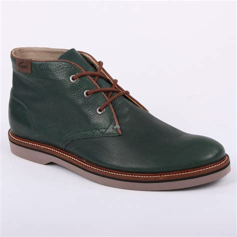 lacoste sherbrooke hi 8 mens laced leather desert boots