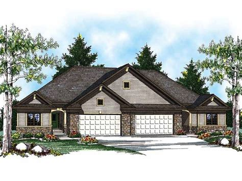 Eplans Com Eplans Ranch House Plan Duplex With Economical Floor