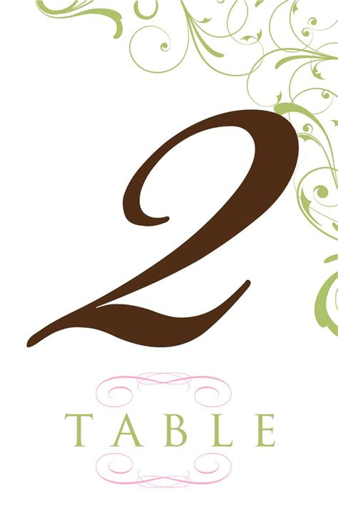 table number templates table number template clipart best