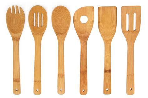 premium kitchen cooking utensils bamboo spoon spatula 6
