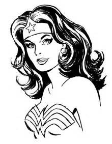 Wonder Woman Cartoon Black And White Sketch Coloring Page sketch template