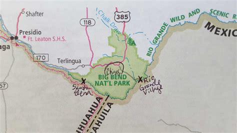 big bend park map big bend national park part 1 the east grande