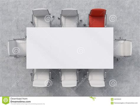 Dining Room Set For 4 by Top View Of A Conference Room A White Rectangular Table