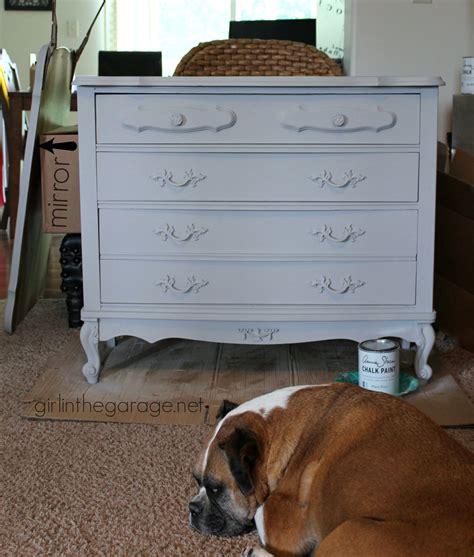 chalk paint gris chalk paint and cherry blossoms a dresser makeover