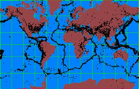 earthquake locations 10 m earthquakes
