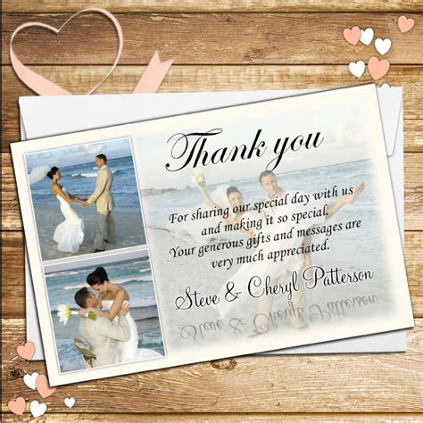 Wedding Cards Designer Vacancy by 10 Personalised Wedding Thank You Photo Cards N35