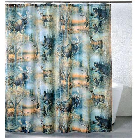 moose shower curtain walmart moose bear deer shower curtain big country cool house