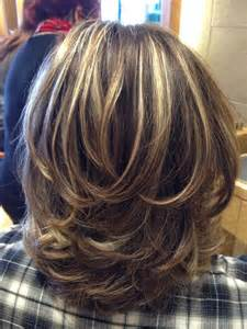 layered highlighted hair styles medium length hairstyles hairstyles