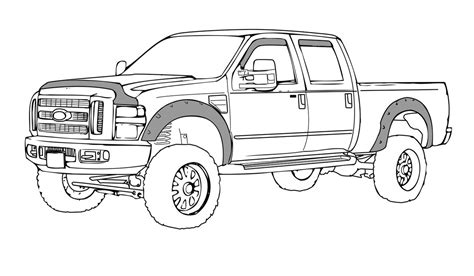 ford trucks coloring page f350 ford truck free coloring pages