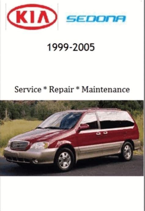 car repair manuals online pdf 2005 kia sedona auto manual kia sedona 1999 2005 service repair manual download manuals a