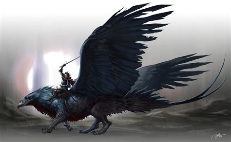 raven gryphon by arvalis on deviantart