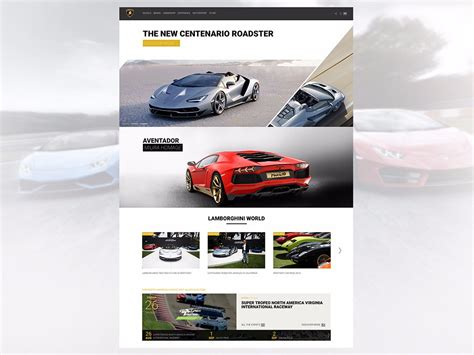 web imágenes videos noticias lamborghini presenta su nueva p 225 gina web y configurador on