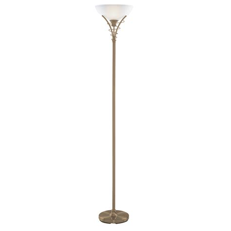 glass uplighter shade for floor l antique brass floor l with twist centre design and