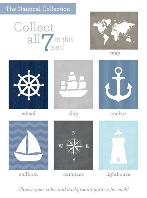 bild kinderzimmer segelboot sailboat print nautical set nursery wall 8x10