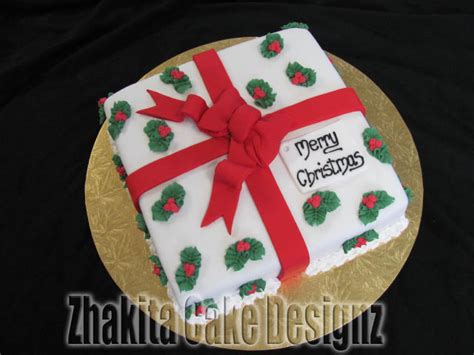 how to decorate a square christmas cake christmas lights
