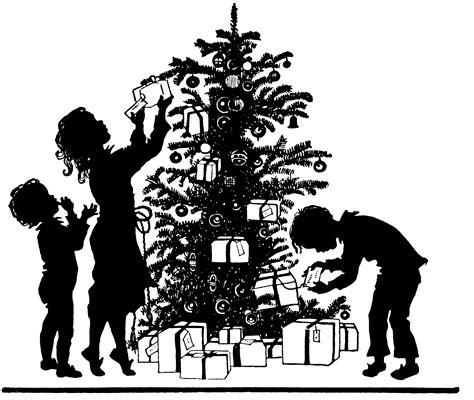 printable christmas silhouettes free image tree trimming silhouette amybarickman comamybarickman