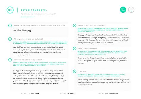 pitch template pitch template 100 open