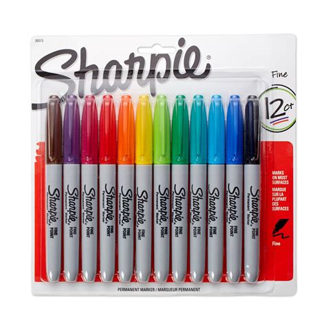 sharpie marker colors sharpie point permanent markers 12 pack assorted
