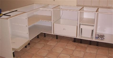 kitchen cabinet carcases installation of kitchen counter tops