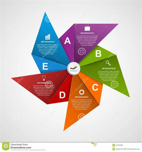 abstract options infographics design template   shape