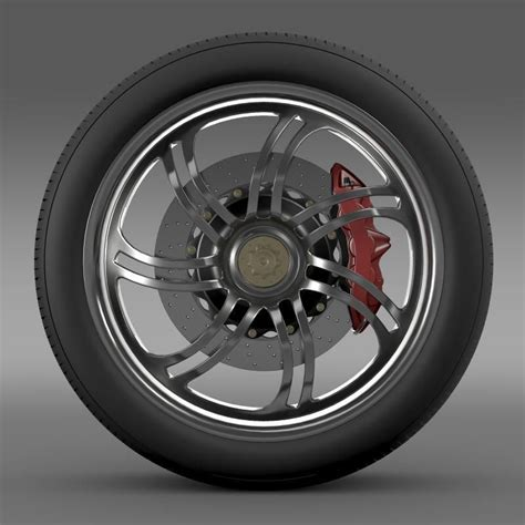 pagani wheels pagani huayra wheel 3d model max obj 3ds fbx c4d lwo