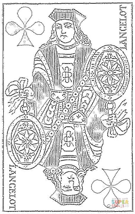 Lancelot Tarot Card Coloring Online Super Coloring Free Coloring Pages Trading