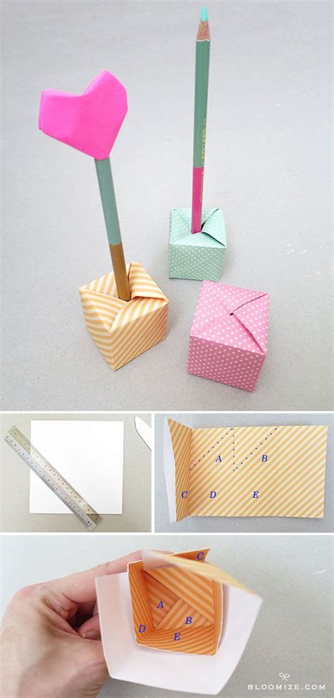 Origami Pencil Cup - 1000 images about origami on origami paper
