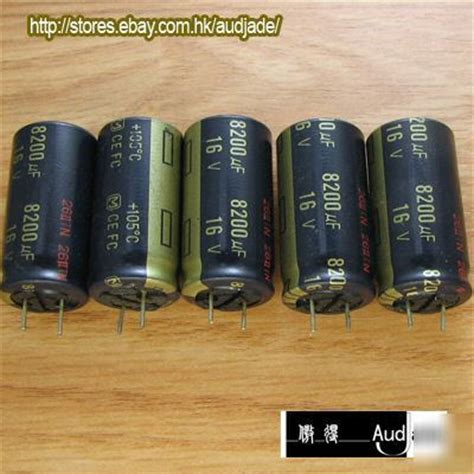 panasonic fc capacitors audio new 12pcs 8200uf 16v panasonic fc audio capacitors