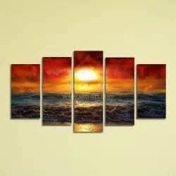 cheap 5 panel wall painting decor canvas