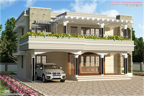 flat house design modern flat roof villa in 2900 sq feet kerala home