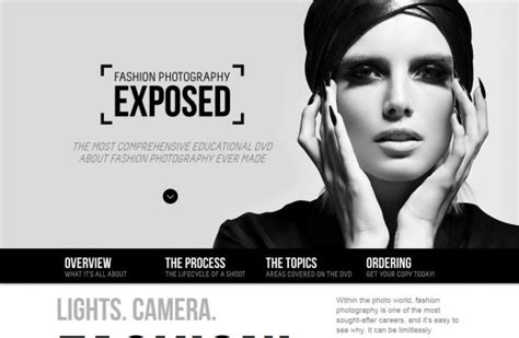 web design inspiration fashion sites the fashion photography exposed dvd webdesign